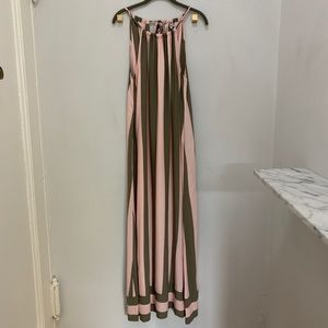 NWT Splendid Gray and Pink Striped Maxi Dress (M)